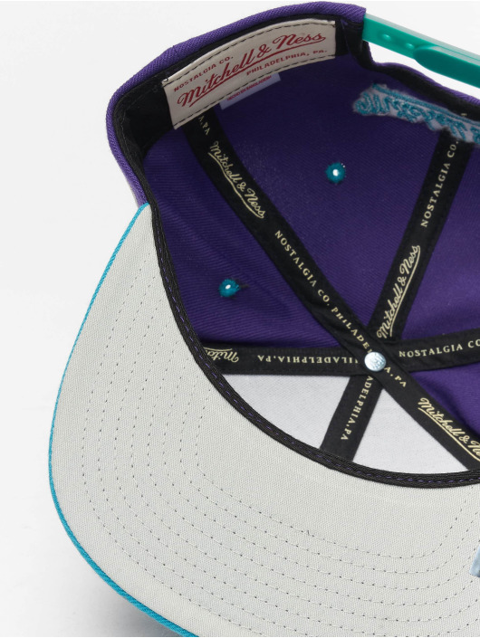 Mitchell & Ness Snapback Caps Charlotte Hornets HWC Team Arch fioletowy