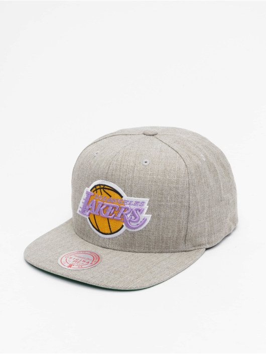 Mitchell & Ness Snapback Caps Team Heather HWC Los Angeles Lakers grå