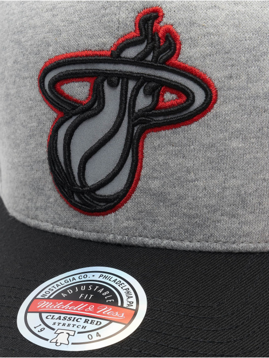 Mitchell & Ness Snapback Caps 186 Redline Miami Heat harmaa