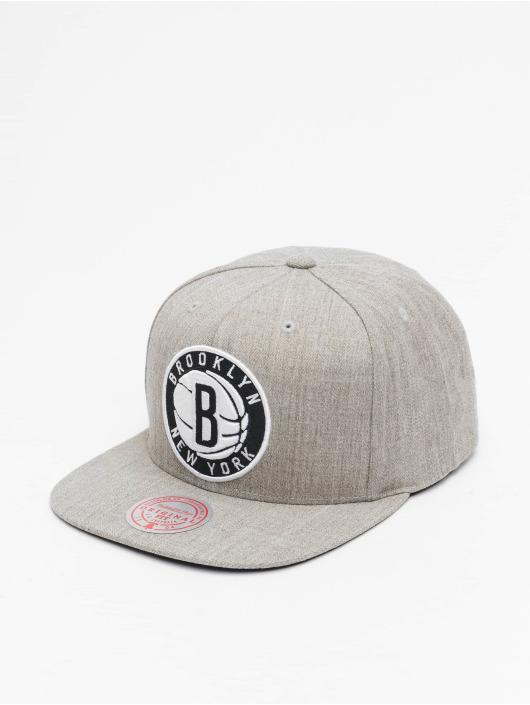 Mitchell & Ness Snapback Caps Team Heather Brooklyn Nets harmaa