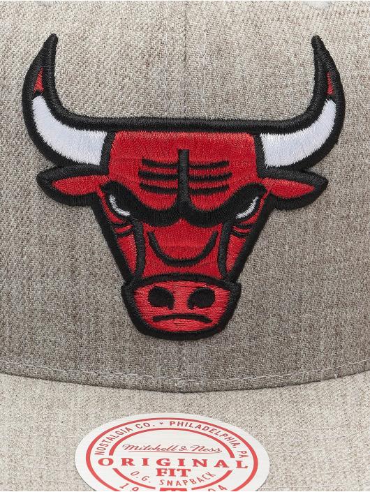 Mitchell & Ness Snapback Caps Team Heather Chicago Bulls harmaa