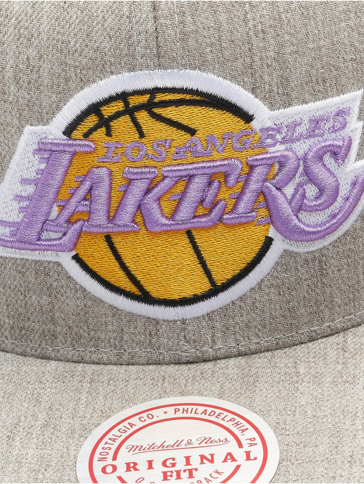 Mitchell & Ness Snapback Caps Team Heather HWC Los Angeles Lakers harmaa