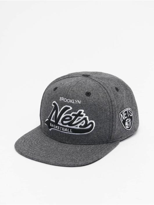 Mitchell & Ness Snapback Caps NBA Brooklyn Nets Melton COD harmaa