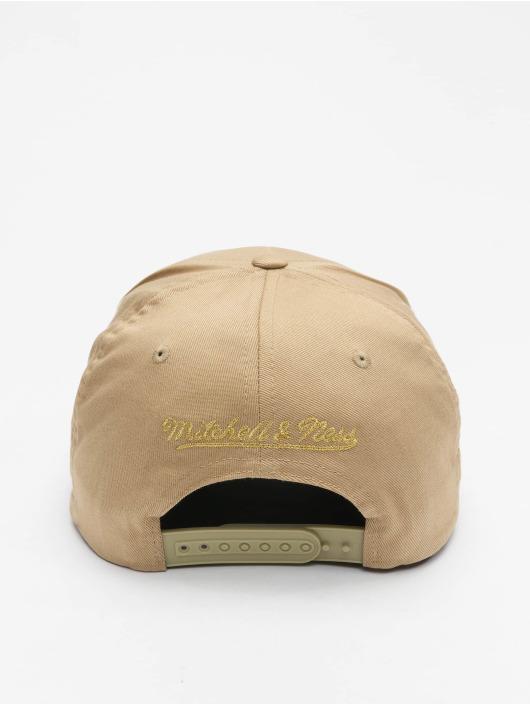 Mitchell & Ness Snapback Caps Own Brand Metallic Pinscript khaki