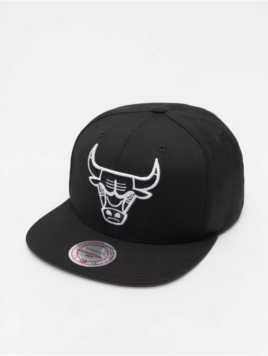 Mitchell & Ness Snapback Caps NBA Chicago Bulls Wool Solid musta