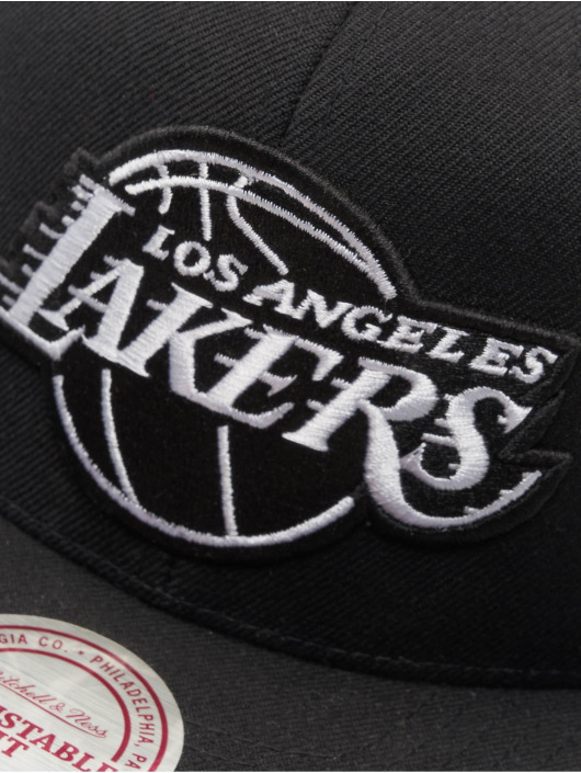 Mitchell & Ness Snapback Caps NBA LA Lakers Wool Solid musta