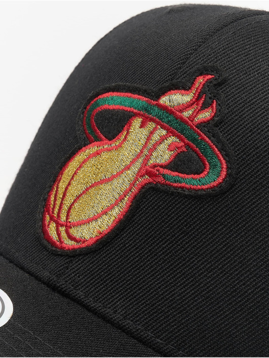 Mitchell & Ness Snapback Caps NBA Miami Heat Luxe 110 musta