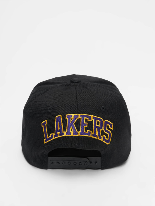 Mitchell & Ness Snapback Caps NBA LA Lakers 110 Curved Eazy musta