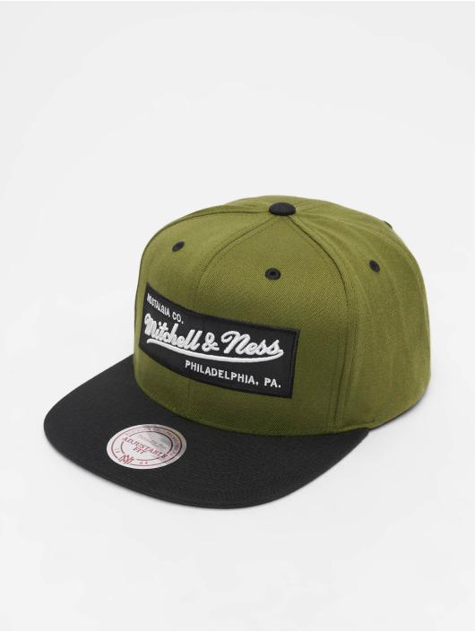Mitchell & Ness Snapback Caps Branded Box Logo oliivi
