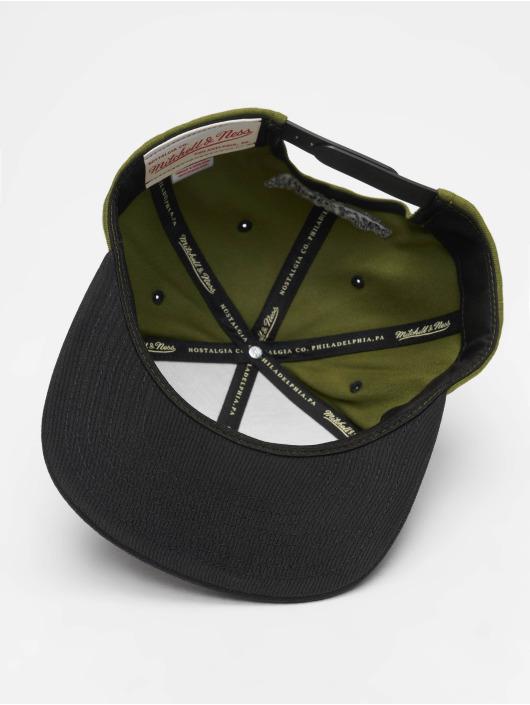 Mitchell & Ness Snapback Caps Branded Box Logo oliven