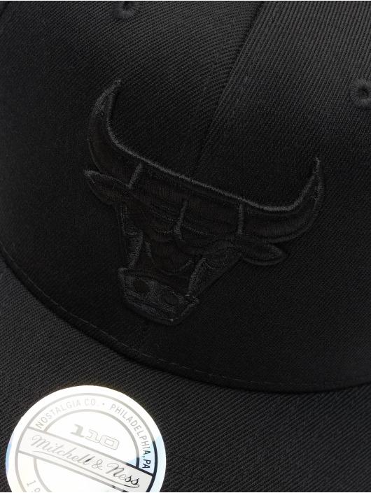 Mitchell & Ness Snapback Caps NBA Chicago Bulls 110 Black On Black sort