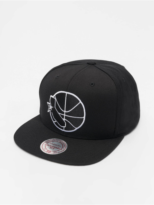 Mitchell & Ness Snapback Caps NBA Golden State Warriors Wool Solid svart