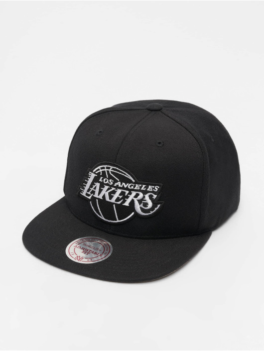Mitchell & Ness Snapback Caps NBA LA Lakers Wool Solid svart