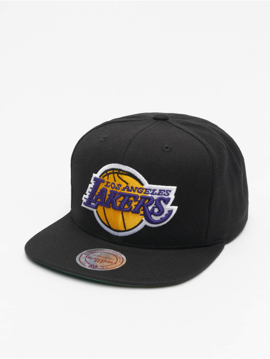 Mitchell & Ness Snapback Caps L.A. Lakers Team Logo Deadstock Throwback svart