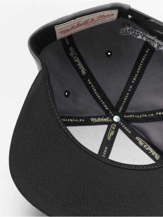 Mitchell & Ness Snapback Caps Branded Box Logo szary
