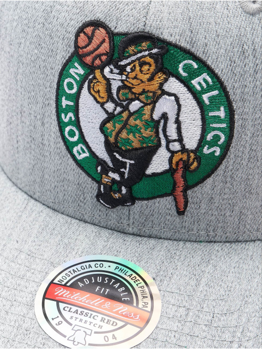 Mitchell & Ness Snapback Caps Team Heather Boston Celtics Stretch szary