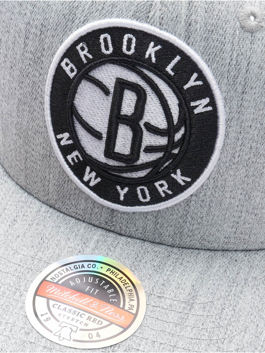 Mitchell & Ness Snapback Caps Team Heather Brooklyn Nets Stretch szary