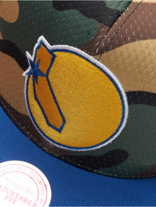 Mitchell & Ness Snapback Woodland Golden State Warriors Cover maskáèová