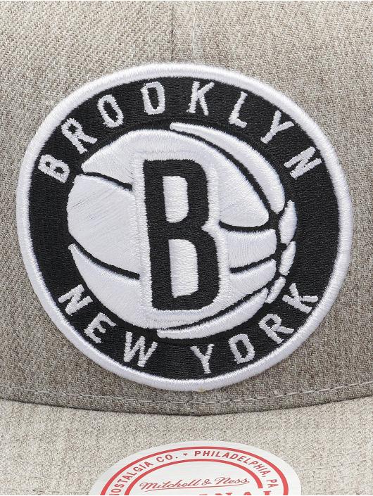 Mitchell & Ness Snapbackkeps Team Heather Brooklyn Nets grå
