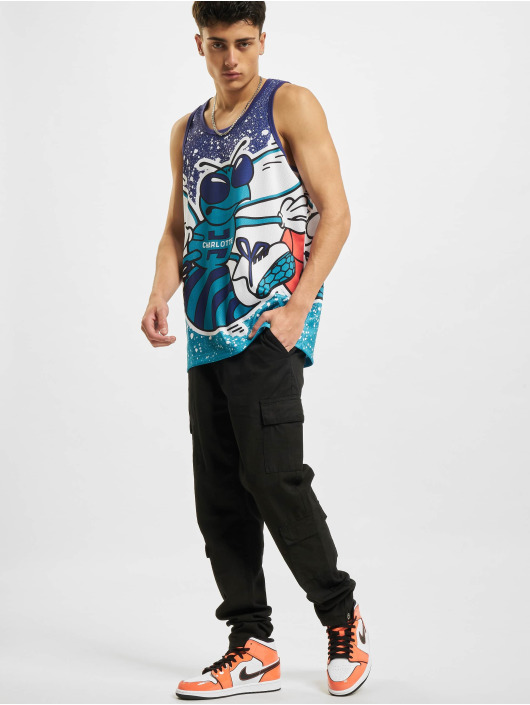 Mitchell & Ness Tank Tops Jumbotron Sublimated Charlotte Hornets blue