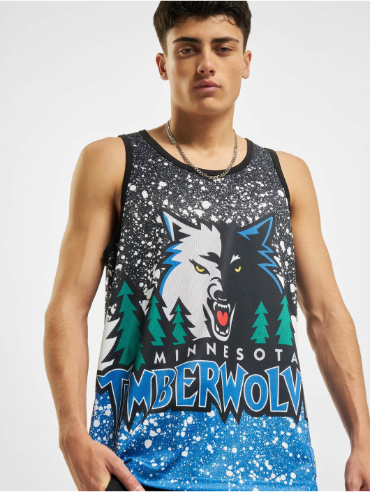 Mitchell & Ness Tank Tops Jumbotron Sublimated Minnesota Timberwolves blue