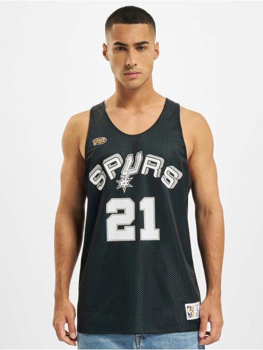 Mitchell & Ness Tank Tops Reversible San Antonio Spurs Tim Duncan czarny