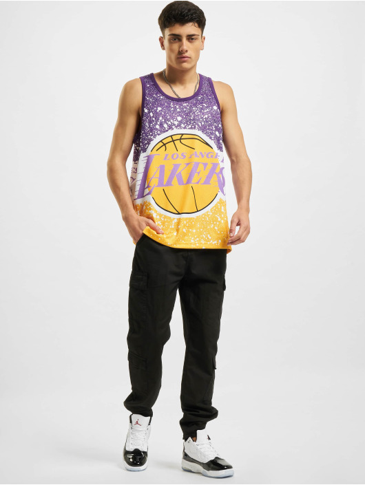 Mitchell & Ness Tank Tops Jumbotron Sublimated Los Angeles Lakers gold colored