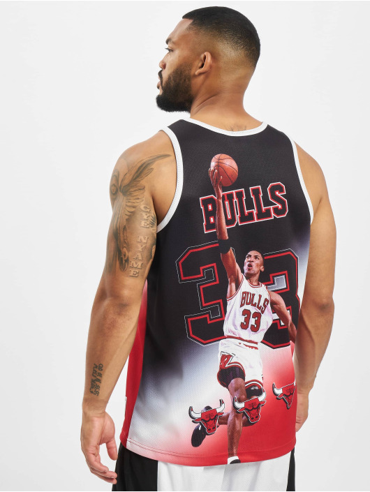 Mitchell & Ness Tank Tops NBA Chicago Bulls Behind The Back svart