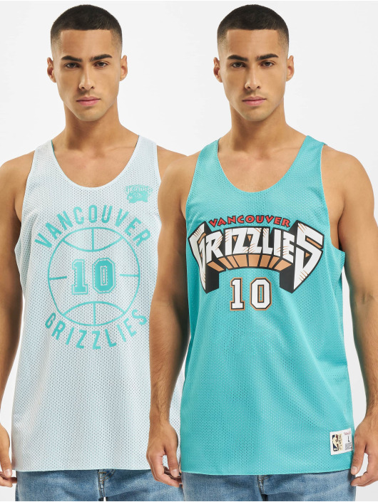 Mitchell & Ness Tank Tops Reversible Vancouver Grizzlies Mike Bibby turkusowy