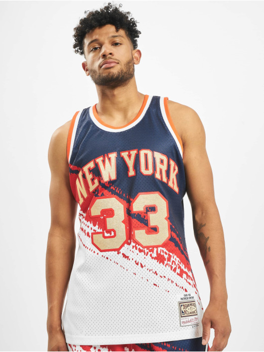 Mitchell & Ness Trikot Independence Swingman NY Knicks P. Ewing J blau