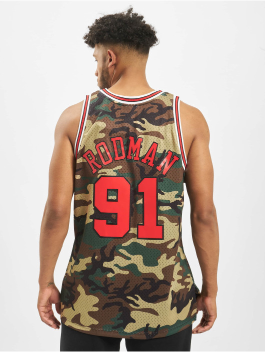 Mitchell & Ness Trikot NBA Chicago Bulls Swingman D. Rodman camouflage