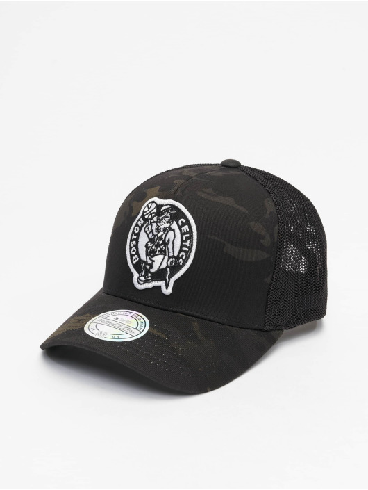 Mitchell & Ness trucker cap Multicam Boston Celtics zwart