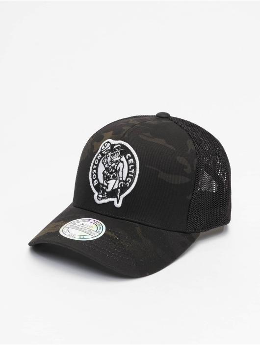 Mitchell & Ness Trucker Caps Multicam Boston Celtics czarny