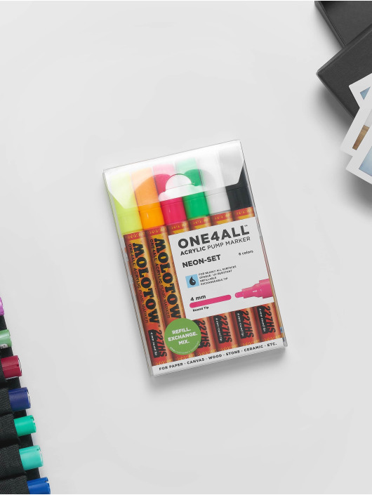 Molotow Marker Marker ONE4ALL Neon-Kit 6 x 227HS Marker 4mm bunt