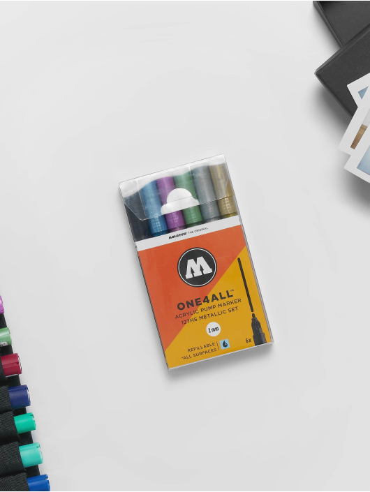 Molotow Marker Marker ONE4ALL Metallic-Kit 6 x 127HS Marker 2mm bunt