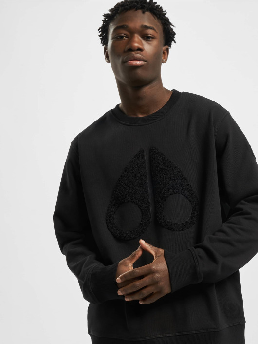 Moose Knuckles Pullover Logo schwarz