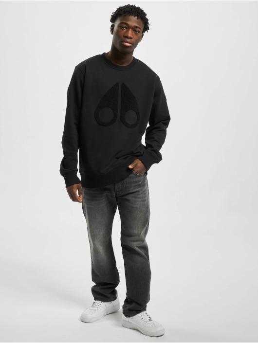 Moose Knuckles Swetry Logo czarny