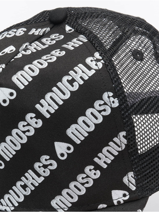 Moose Knuckles Trucker Caps Logo čern