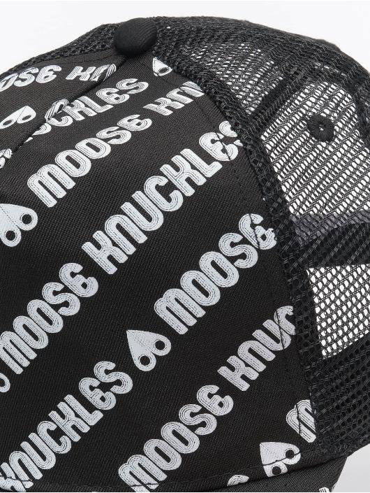 Moose Knuckles Trucker Caps Logo czarny