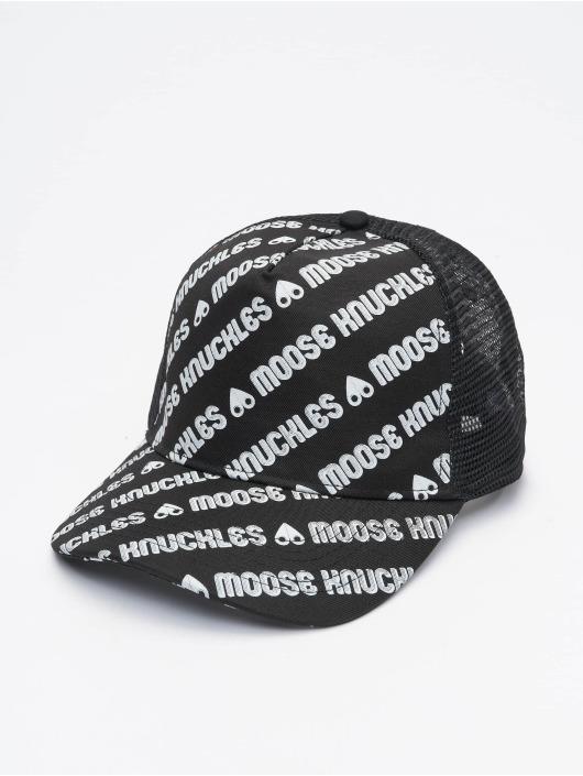 Moose Knuckles Truckerkeps Logo svart