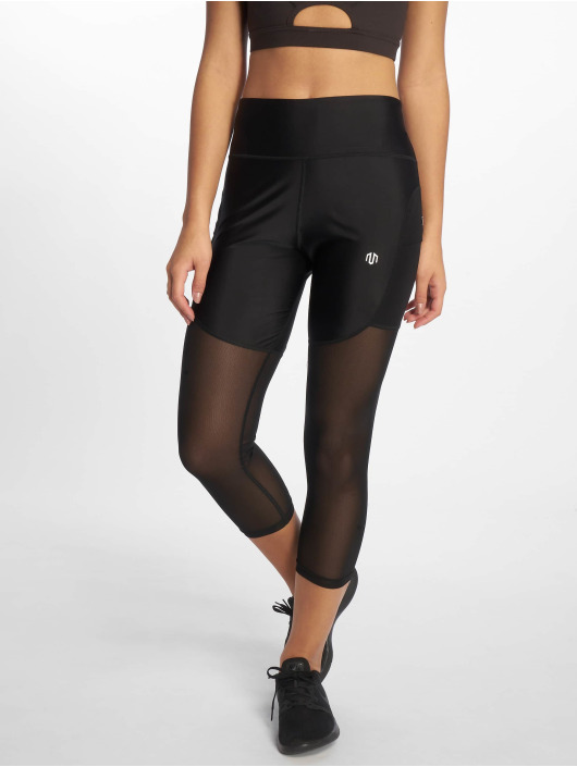 MOROTAI Sportleggings Performance Capri Mesh svart