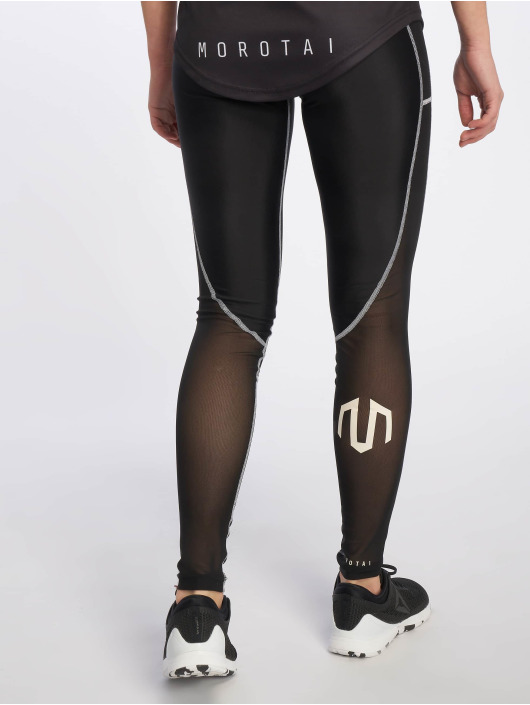 MOROTAI Sportleggings Dual Mesh zwart