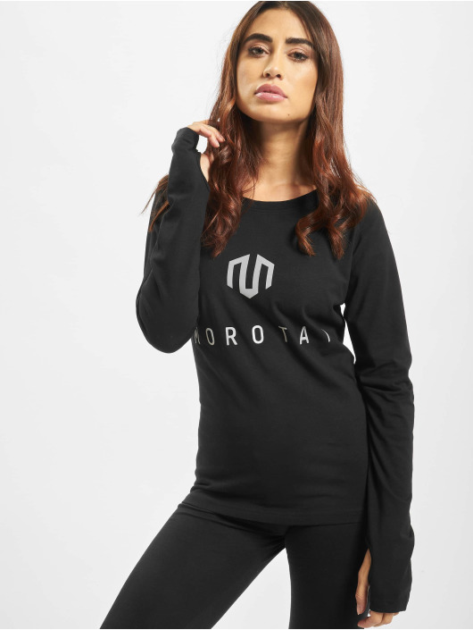 MOROTAI Tričká dlhý rukáv Naka Premium Brand èierna