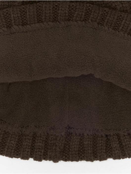 MSTRDS Čiapky Cable Flap hnedá