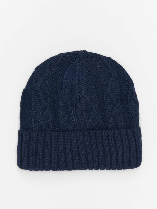 MSTRDS Beanie Cable Flap azul