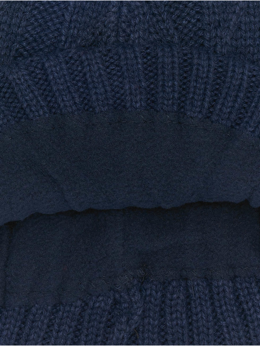MSTRDS Beanie Cable Flap blauw