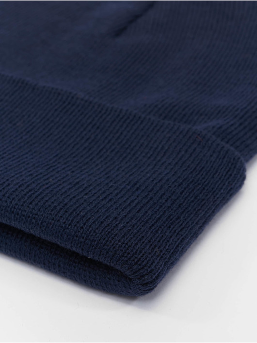 MSTRDS Beanie Basic Flap Long blue