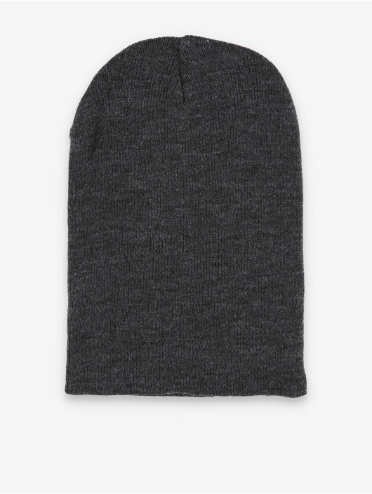 MSTRDS Beanie Basic Flap Long grau
