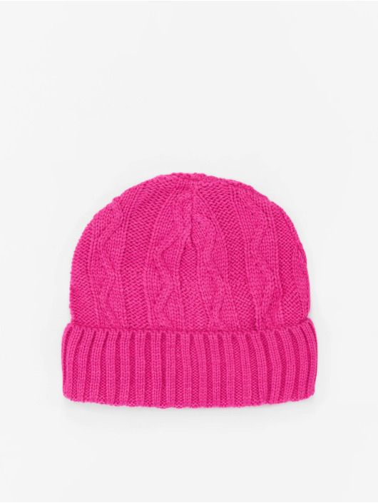 MSTRDS Beanie Cable Flap rosa