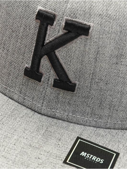 MSTRDS Snapback Cap K Letter grau